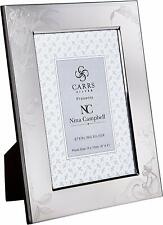 """CARRS - Sterling Silver Photo Frame Nina Campbell Barbary Toile - 6"""" x 4"""""""