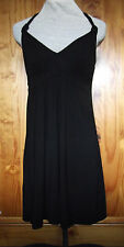 Midnight Grace by Figleaves Size 8 Padded Support Halter Neck Dress Black