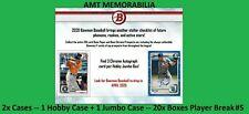 Ian Anderson Atlanta Braves 2020 Bowman JUMBO + HOBBY 2X Case 20x BOX BREAK #5