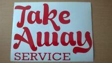 take away service chinese restaurant shop window sign vinyl sticker kebab coffee