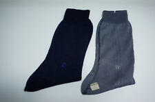 pierre cardin paris Men Socks 25cm 2 pairs Blue and Grey