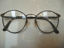 Vintage Giorgio Armani Browline Glasses Frames 49[]19-135 MM Italy Shiny Brown