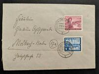 1944 Berlin Charlottenburg to Molbach Germany Cover