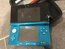 Nintendo 3DS Aqua Blue Handheld System-no Lead