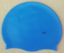 Grade A Premium Silicone Pur Natation Bonnet de Bleu Océan Senior Adultes