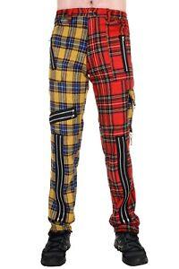 Tiger of London Red and Yellow Zip Bondage Split Leg Pants. Punk
