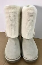 Anthropologie Target Winter Boots Knit Sweater White Women's Boots Size 6