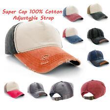 Baseball Cap Classic Adjustable Strap Boys Mens Ladies Sun Summer Hat Cotton