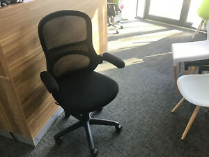 Mesh Back Office Operator Chair with Folding Armrests