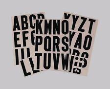 "HY-KO Vinyl LETTERS & SYMBOLS 3"" A-Z Black on White Self Adhesive Sticker MM-4L"