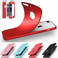 Coque étui Apple iPhone 5/5S/SE/6/6Plus/7&8/ 7&8Plus/X protection avant+arrière!