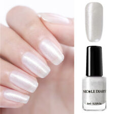 NICOLE DIARY 6ml Peel Off Nail Polish Glitter White Pearl  Varnish Tips