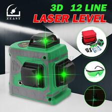 Neu 12 Line Laser Level Green Self Leveling 3D 360° Kreuzlinienlaser laser Tool