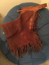Custom Leather Chinks by Dakota Territory Leather