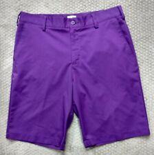 Adidas Men's Golf Shorts Flat Front Purple Performance Size 33