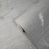 Industrial silver gray metallic Textured Plain Modern Wallpaper rolls faux metal