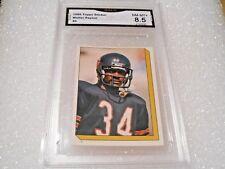 Walter Payton GRADED CARD!! 1986 Topps Stickers #6 Bears HOFer! 8.5%-1