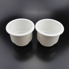 2PCS White Boat Plastic Cup Drink Can Holder Boat Marine RV Universal Convenient