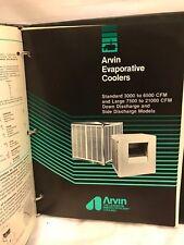 ARVIN EVAPORATIVE COOLER MANUAL. USED RARE