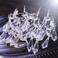 20stk Klar Kristallbehang Octagon Anhänger Prisma Lüster Kronleuchter Dekor