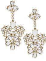 $108 Kate Spade New York Chandelier Clear/Gold Drop Earrings KSS124