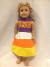 """18"""" American Girl doll Halloween candy corn layered skirt dress outfit clothes"""