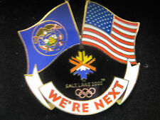 "2002 Salt Lake City Olympic ""We're Next"" Collectable Tin and Pin"