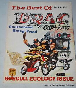 VINTAGE ORIGINAL 1970 # 4 BEST OF DRAG CARTOONS MAGAZINE VG-Fine