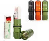 "3.6"" Waterproof Emergency EDC Survival Lighter Kit Gear Storm Matches/Key chain"
