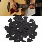 100 pcs Medium 0.71mm Blank Electric Guitar Picks Plectrum Celluloid Solid Black