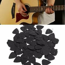 100 pcs Medium 0.71mm Blank Electric Guitar Picks Plectrum Celluloid Solid Black