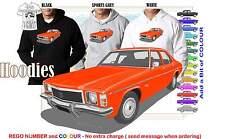 74-76 HJ HOLDEN SEDAN HOODIE ILLUSTRATED CLASSIC RETRO MUSCLE SPORTS CAR