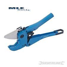 Silverline 42mm Expert Ratchet Plastic Pipe Cutter PVC PE MDPE PEX ABS 675073