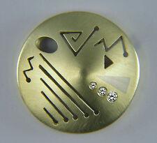 Anhänger  RUNEN - SCHILD  mit DIAMANTEN  in Gold 585/ooo