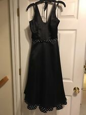 NWOT MORGAN & CO. By Linda Bernell Black Formal CRUISE Dress Size 5/6