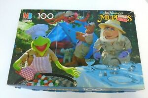JIM HENSON'S MUPPET CAMPING 100 PC JIGSAW PUZZLE MILTON BRADLEY Kermit frog