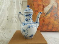 ROYAL COPENHAGEN CAFFETTIERA PORCELLANA BLUE FLUTED HALF LACE COFFEE POT 518