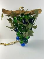 Calessabay Vintage Grape Bunch Hanging Light Mid Century Lucite Green Blue