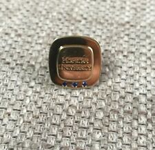 Tiffany & Co Hofstra University lapel pin 18k yellow gold/ .925 with saphires