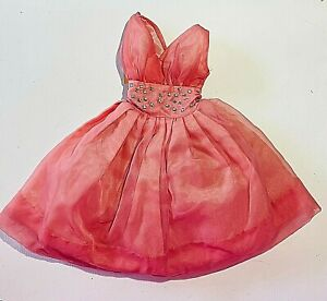 """DELUX READING CANDY FASHION DOLL DRESS 1960 VINTAGE 12"""" LENGTH 3.25"""" WAIST"""