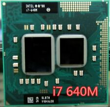 Intel Core i7 640M 2.8GHz 2-Core 4M Processeur Socket G1 Portable CPU SLBTN Used