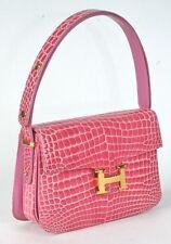 RAPHAEL Crocodile Alligator PINK Lady's Constance Handbag Exotic Leather ITALY