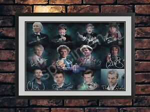 DOCTOR WHO - 12 DOCTORS SIGNED LIMITED EDITION AUTOGRAPH MEMORABILIA  PRINT