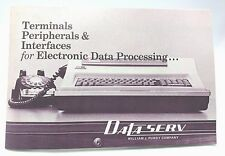 Vintage 1970 DataServ William Purdy Data Processing Services Equipment Brochure