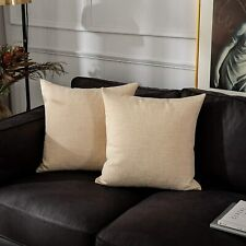 Kevin Textile Textural Faux Linen Throw Cushion Pillow Covers Shams for Couch