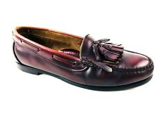 Cole Haan Kiltie Tassel Burgundy Loafer Size US.9  UK.8.5 EU.42