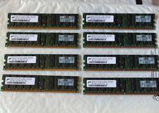 32GB 8x 4GB HP 405477-061 2RX4 PC2-5300P  Micron MT36HTF51272PY-667E1 Server RAM