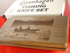 Schrade Made in Usa Copenhagen Solid Walnut Fishing Knife Display box Mint