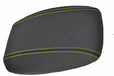 FITS VAUXHALL VECTRA B LEATHER ARMREST COVER YELLOW STITCH