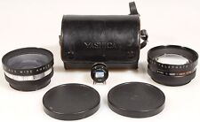 YASHICA TELEPHOTO   WIDE ANGLE FOR GSN W/ VIEW FINDER   BLACK CASE